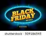 black friday sale frame design... | Shutterstock .eps vector #509186545