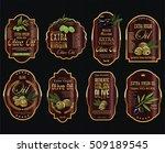 olive oil retro vintage... | Shutterstock .eps vector #509189545