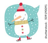 creative hand drawn card with... | Shutterstock .eps vector #509190091