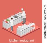 isometric flat 3d concept... | Shutterstock .eps vector #509195971