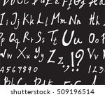 hand drawn doodle letters and... | Shutterstock .eps vector #509196514