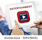 entertainment media video play... | Shutterstock . vector #509198431