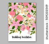 wedding invitation with...   Shutterstock .eps vector #509203549