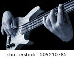hands of bassist playing a...   Shutterstock . vector #509210785