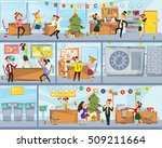 funny business people drinking  ... | Shutterstock .eps vector #509211664