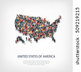 people map country america usa... | Shutterstock .eps vector #509219215