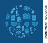 medical healthcare service icon ... | Shutterstock .eps vector #509220901