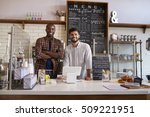 business partners stand behind... | Shutterstock . vector #509221951