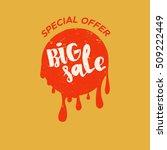 grunge color design big sale... | Shutterstock .eps vector #509222449