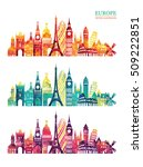 europe skyline detailed... | Shutterstock .eps vector #509222851
