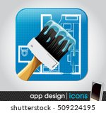 paint and home remodelling app... | Shutterstock .eps vector #509224195