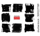 vector set of black brush... | Shutterstock .eps vector #509227789