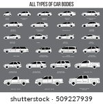 all types of car bodies. car... | Shutterstock .eps vector #509227939