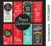 christmas restaurant brochure ... | Shutterstock .eps vector #509230849