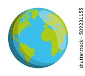 world planet earth isolated... | Shutterstock .eps vector #509231155