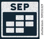 september calendar grid grainy... | Shutterstock .eps vector #509231329