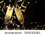 champagne glasses ready to... | Shutterstock . vector #509233381