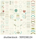 set of 200 colorful hand drawn... | Shutterstock .eps vector #509238124