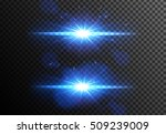 glowing light effects... | Shutterstock .eps vector #509239009