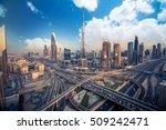 dubai skyline with beautiful... | Shutterstock . vector #509242471