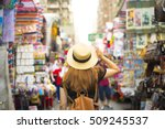 tourist is visiting at mongkok... | Shutterstock . vector #509245537