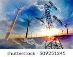 abstract double exposure... | Shutterstock . vector #509251345