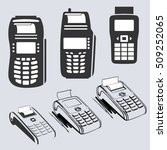 vector icons set of pos counter ... | Shutterstock .eps vector #509252065