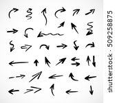 hand drawn arrows  vector set | Shutterstock .eps vector #509258875