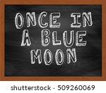 Once In A Blue Moon Handwritte...