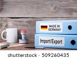 made in germany. two binders on ... | Shutterstock . vector #509260435
