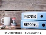 forecasting and reports. two... | Shutterstock . vector #509260441