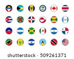 flags of north america   Shutterstock .eps vector #509261371