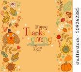 thanksgiving poster or greeting ... | Shutterstock .eps vector #509262385