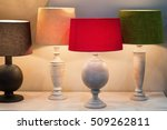 retro style desk lamps with... | Shutterstock . vector #509262811
