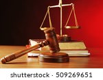 Judges Gavel With Justice...