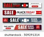 design horizontal web banners...   Shutterstock .eps vector #509291314