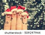 finger art of friends... | Shutterstock . vector #509297944