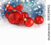 merry christmas and happy new... | Shutterstock . vector #509298901