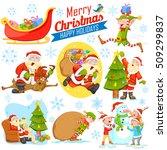 illustration of merry christmas ... | Shutterstock .eps vector #509299837
