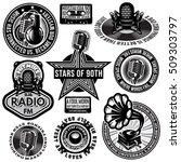 set of retro badges templates... | Shutterstock .eps vector #509303797