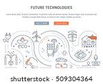 flat line illustration of... | Shutterstock .eps vector #509304364