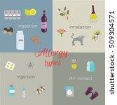 different types of allergies   Shutterstock .eps vector #509304571