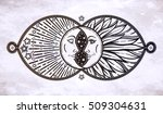 intricate hand drawn ornate... | Shutterstock .eps vector #509304631