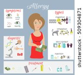 allergy vector infographic set... | Shutterstock .eps vector #509304871