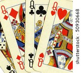game of cards with poker of... | Shutterstock . vector #50930668