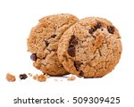 chocolate cookies on white...   Shutterstock . vector #509309425