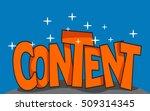 illustration of content word | Shutterstock .eps vector #509314345