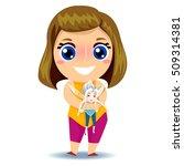 illustration of a little girl...   Shutterstock .eps vector #509314381