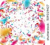 colorful confetti on white... | Shutterstock .eps vector #509319427