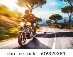 motorbike on the road riding.... | Shutterstock . vector #509320381
